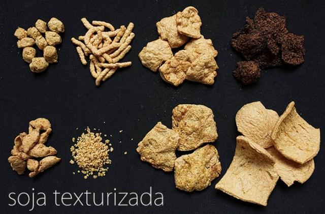 Diferentes tipos de soja texturizada - Libro Cocina Vegana