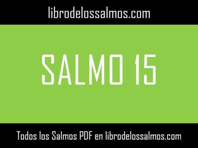 salmo 15