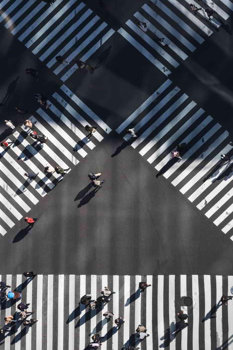 Psicología senda peatonal cruce tránsito
