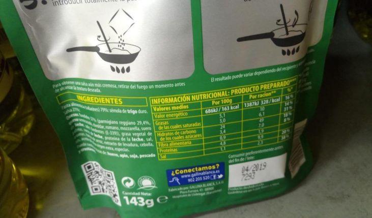 Aprende a interpretar la etiqueta de los alimentos