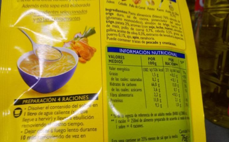 Cómo interpretar las etiquetas de los alimentos precocinados