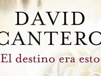 El Destino era Esto, Libro de David Cantero