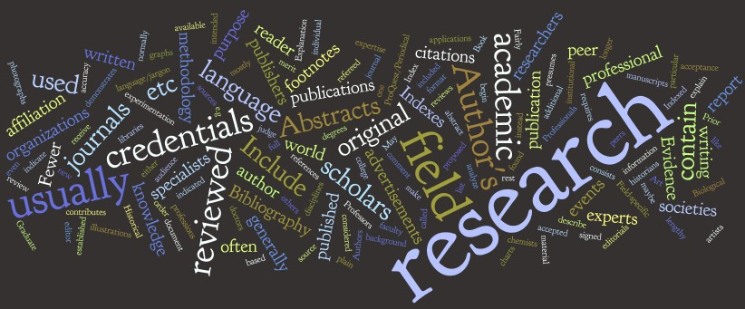 """My final visualization for a """"definition"""" of scholarly articles"""
