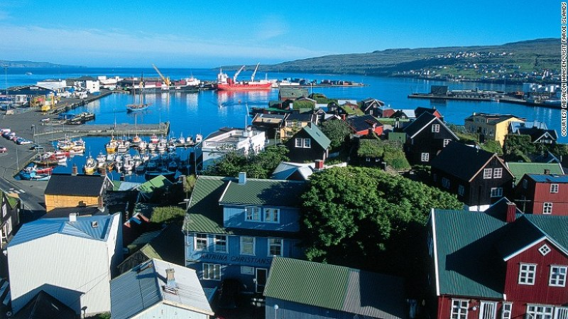 The capital of Faroes is located on the island's largest and most populous island, Streymoy. Torshavn has only three sets of traffic lights and a stadium big enough to hold 10% of the Faroes population.