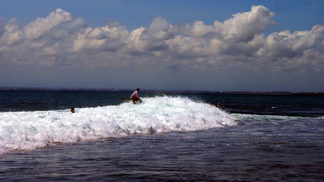If you are a good traveler, surfing at Balangan Beach can be an option to satisfy your adrenaline.