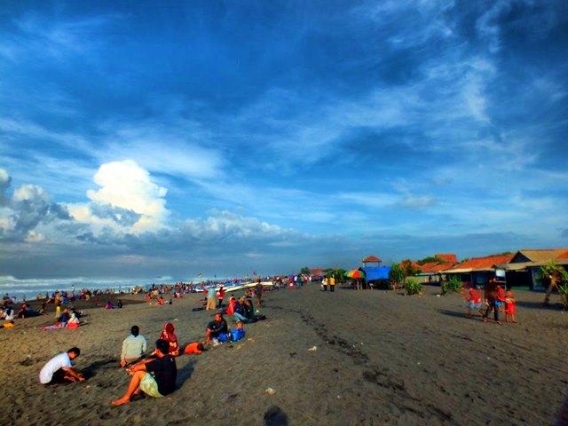 Pantai Depok di Yogyakarta.