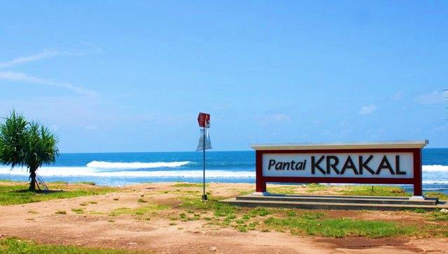 Pantai Krakal di Yogyakarta.
