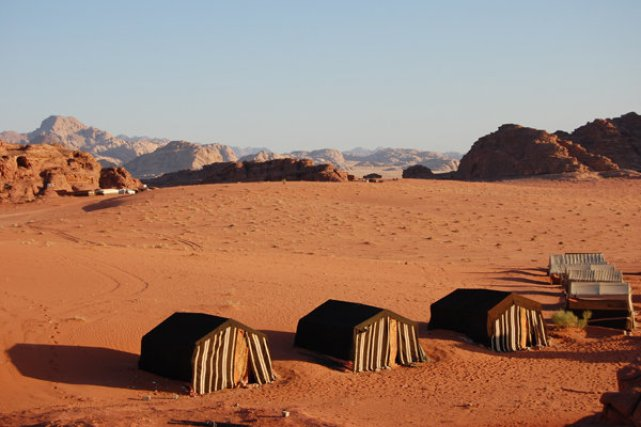 Camping out in Wadi Desert Rum (source)