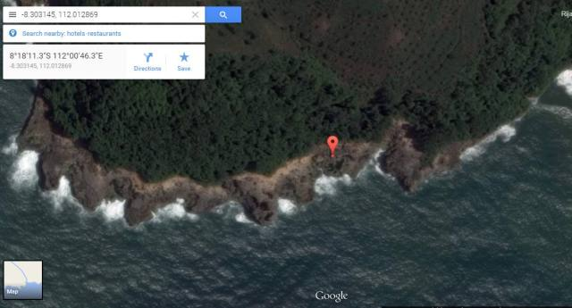 Peta Lokasi Pantai Kedung Tumpang
