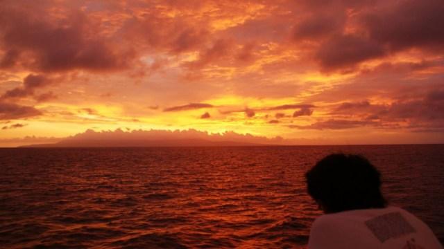 Menyeberanglah ke Bali atau Lombok sore hari, dan kalian akan berkesempatan untuk menyaksikan sunset luar biasa seperti ini!