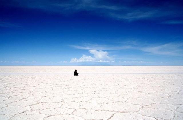 Pemandangan ketika padang garam ini mengering