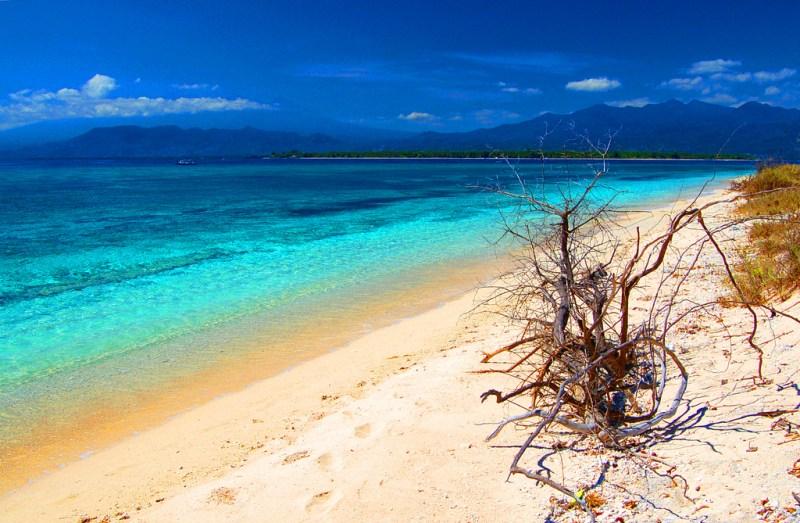 Pantai di Gili Meno, Lombok