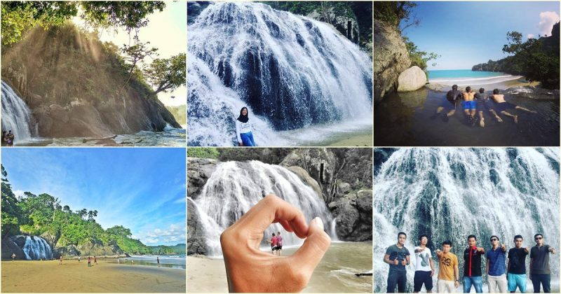 Waterfall And Beach In The One Place Only In Banyu Anjlok Malang!