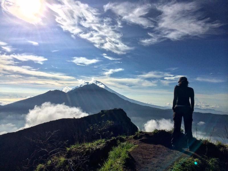 Gunung Batur Dengan Ketinggian 1.717 mdpl di Bali by IG @wisna_bali