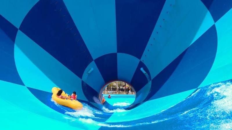 There is also a waterpark on Santorini Park Cha-Am Hua Hin, Thailand