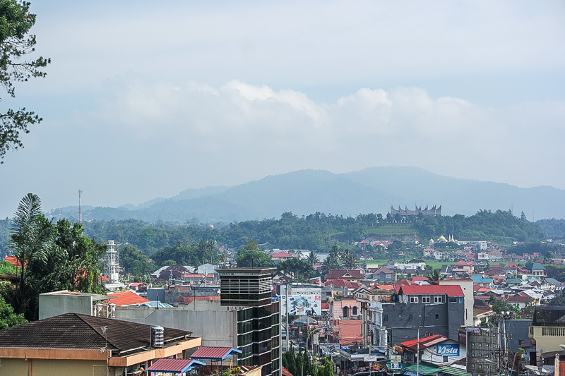 View of Bukittinggi city from Fort Fort Kock