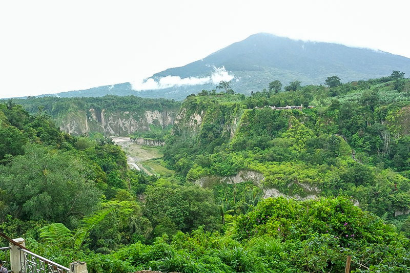 View of the sianok canyon from the panoramic park