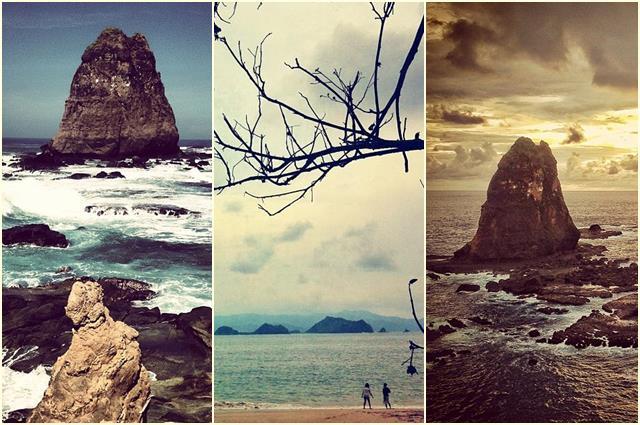Pantai Tanjung papuma dengan panoramanya yang indah.