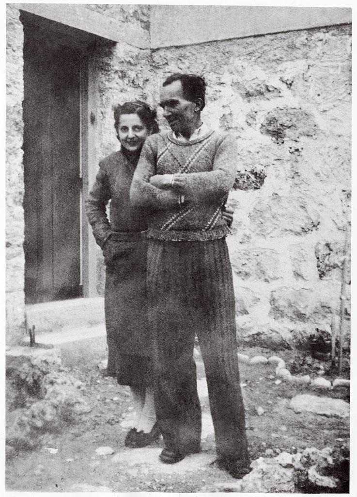 Елени и Никос Казандзакис в Гърция. Снимка: kazantzakispublications.org