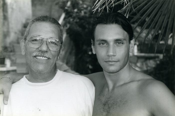 Лео с баща си