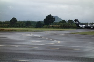 The flight from Auckland arriving
