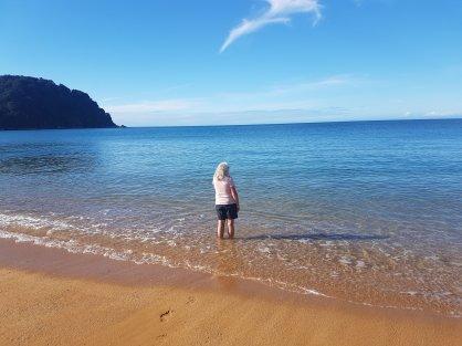 Enjoying the sunshine in Abel Tasman National Park