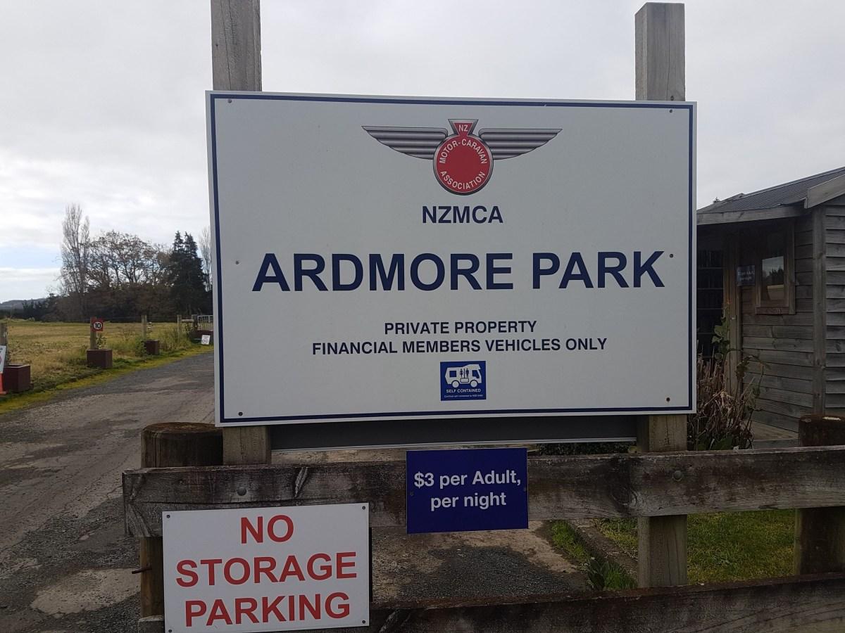 Camping - NZMCA - Ardmore