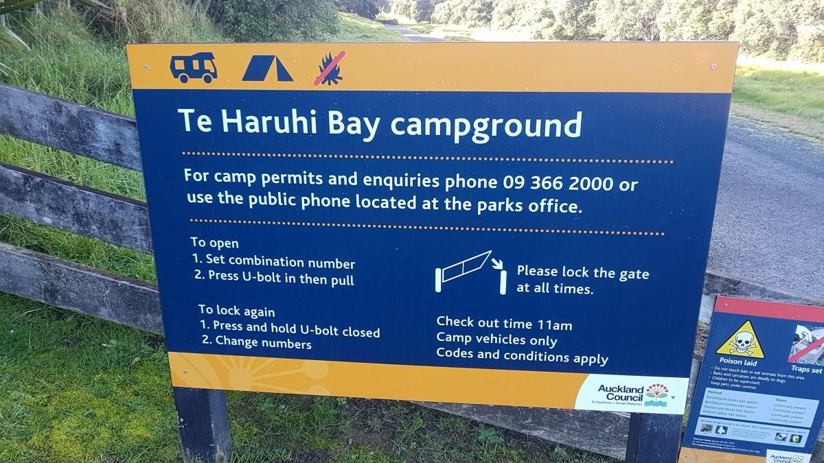 Camping - Shakespear Regional Park