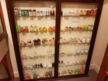 The collection of salt and pepper shakers at the museum