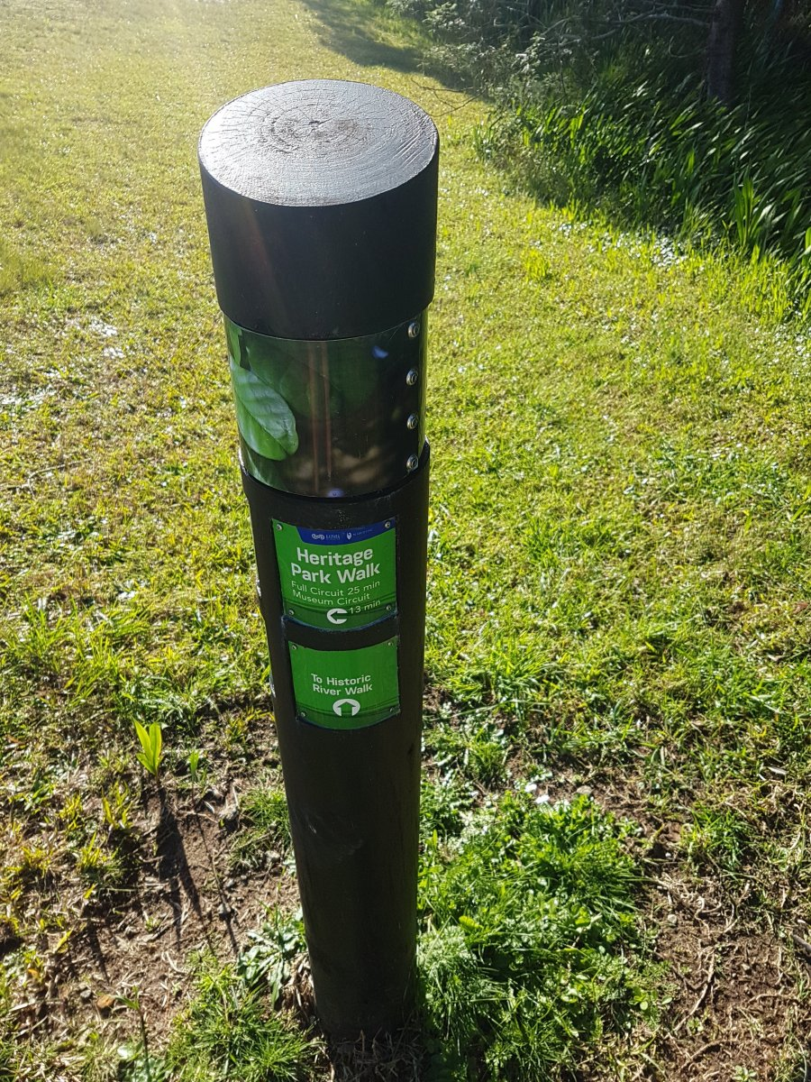 Heritage park walk sign