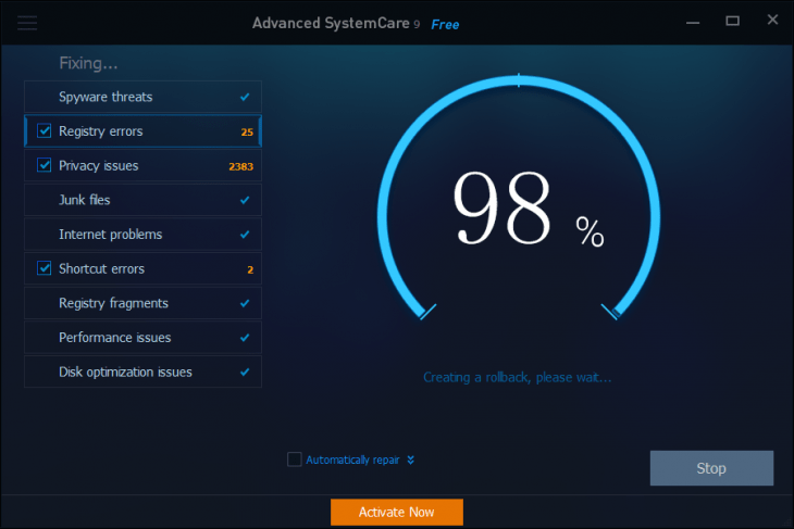 advanced systemcare pro 11.4 serial key 2018