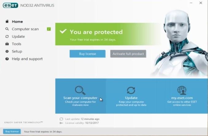 ESET NOD32 Antivirus License Key & activation key