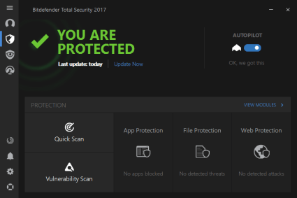 Bitdefender Total Security 2017 License Key Full Crack Download
