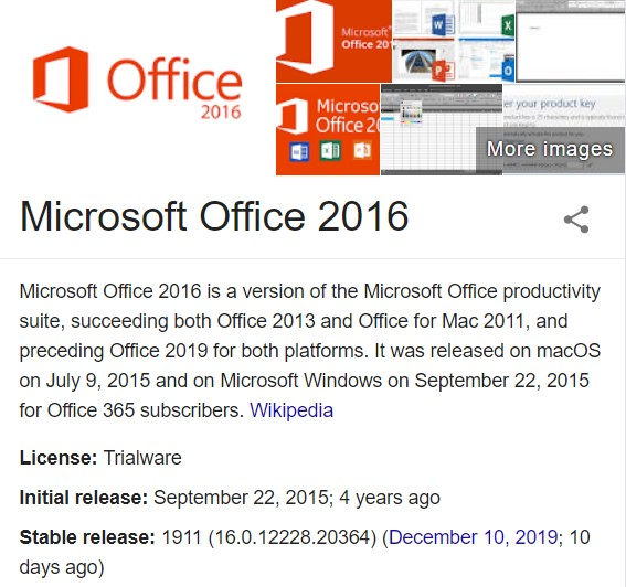 Microsoft Office 2016 Product Key 2020 100 Working