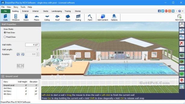 NCH DreamPlan Plus 6.54 Crack With Keygen Free Download