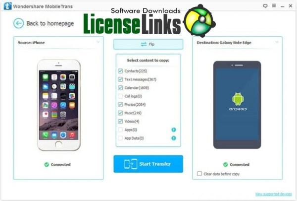 Wondershare MobileTrans 8.1.0 Crack Key Free Torrent Download