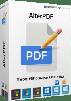 AlterPDF Pro 5.2 Crack Plus License Key 2021 Latest Download