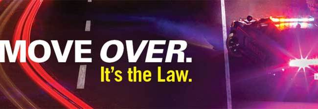 Move Over banner - NHTSA