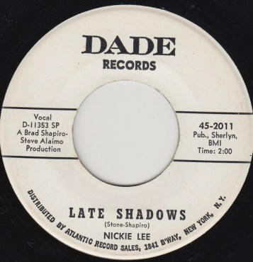 "Nickie Lee ""Late Shadows"" – Dade Records"