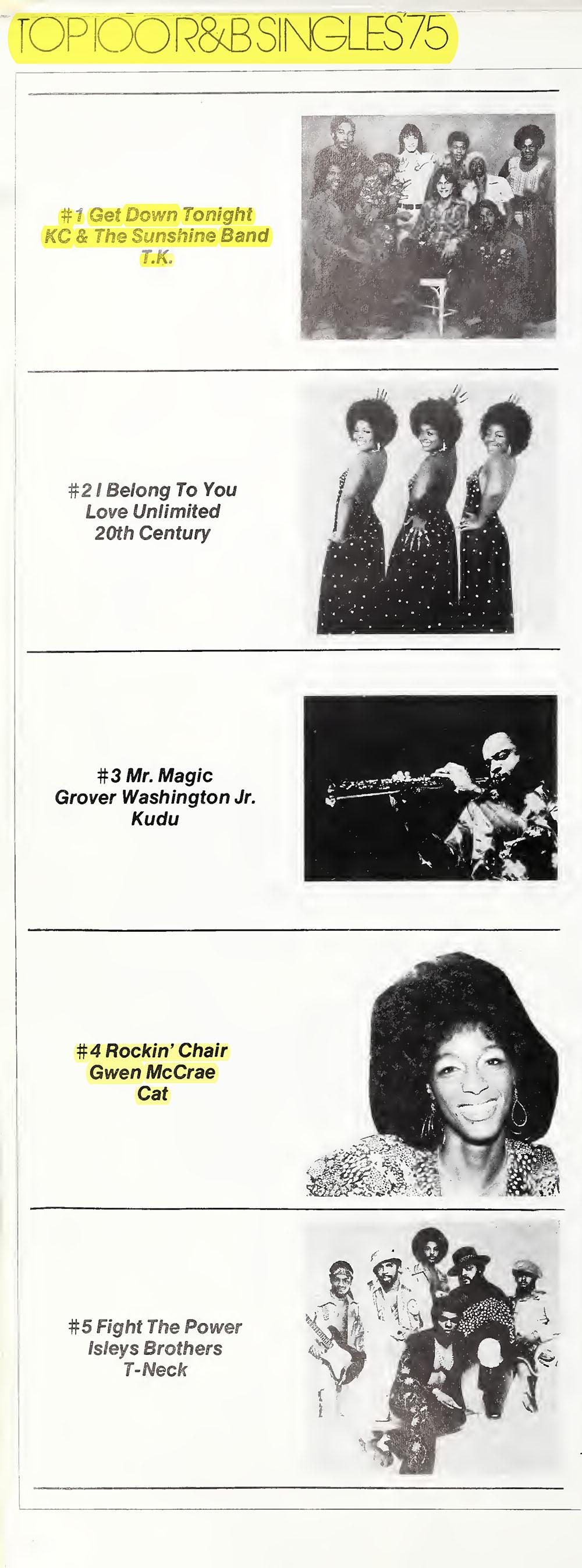 Top 5 R&B Singles of 1975
