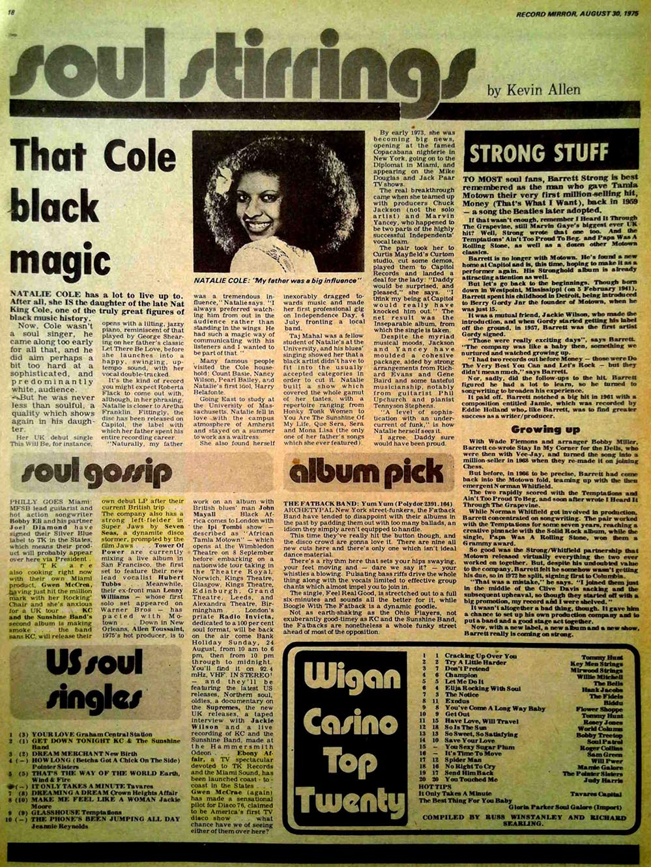 Record Mirror Soul Gossip 1975