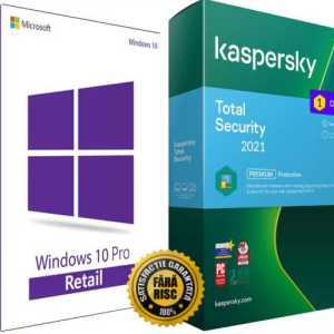 Windows 10 Pro Retail si Kaspersky 2021 Total security