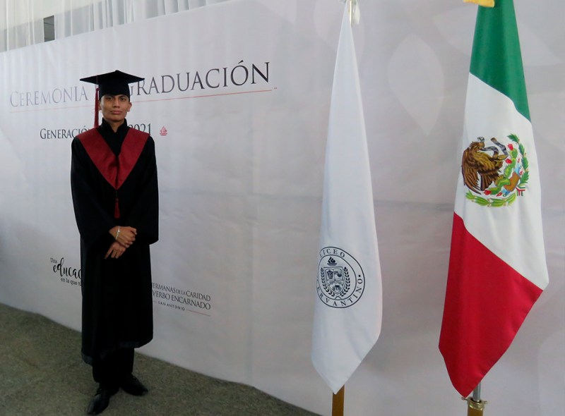Orlando Mendoza Muñoz, egresado de Preparatoria General.