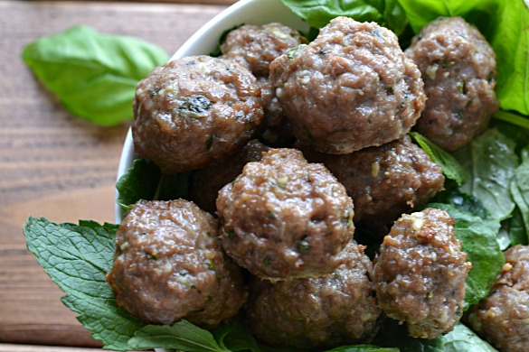 Basil Mint Lamb Meatballs (AIP/Paleo/Sugar Free)| Lichen Paleo, Loving AIP