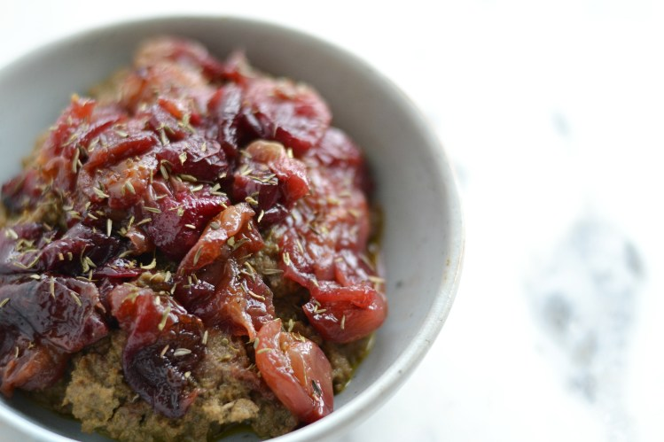 Beef Liver Pâté  with Thyme and Roasted Grapes (AIP/Paleo/Sugar Free)