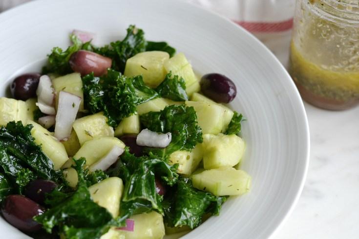 Greek Kale Salad (AIP/ Paleo/ Refined Sugar-Free)