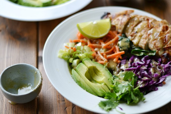 "Lime Chicken Bowls with Nut Free ""Peanut"" Sauce (AIP/Paleo/Sugar-Free)"