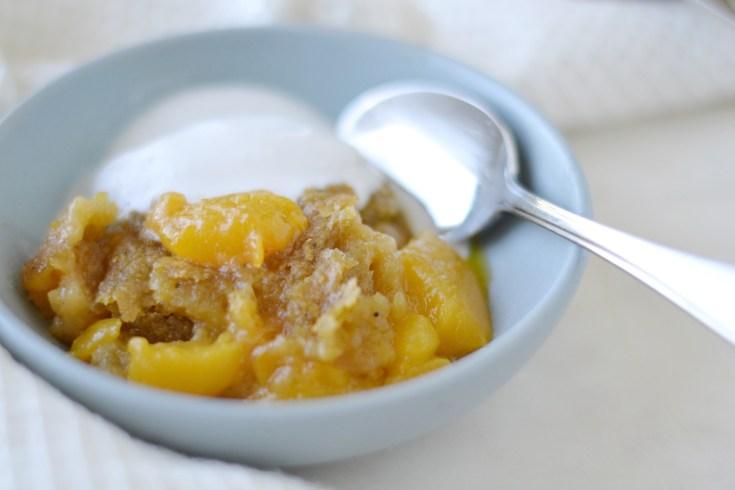 Peach Plantain Cobbler (AIP/Paleo/Refined Sugar-Free)