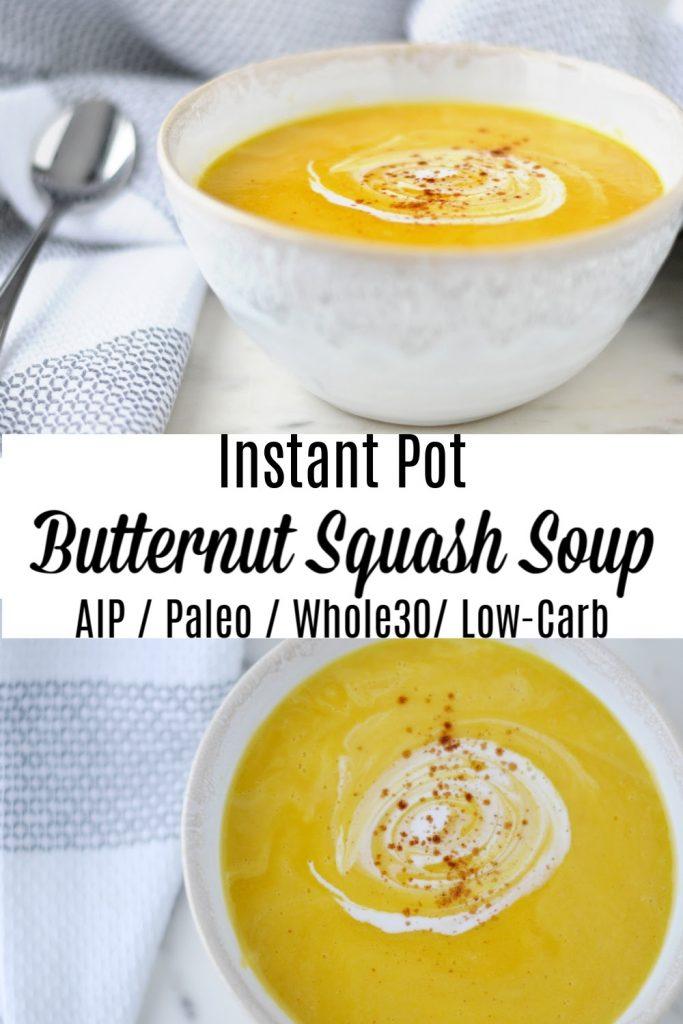 Instant Pot Butternut Squash Soup Pinterest image