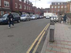 Illegal parking on Wade Street